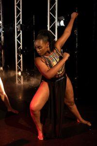 A dancer in a pose