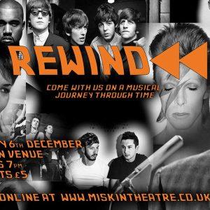 Rewind Music gig poster