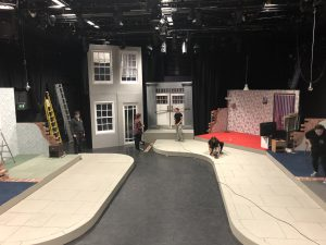 stage set for production of London Road