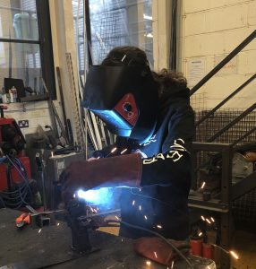 theatre technician welding
