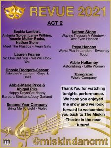 Act two programme for Revue