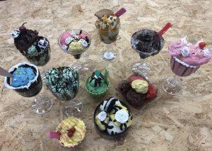 Fake food - ice cream sundaes